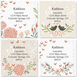 Spring Mix Large Square Address Labels (4 Designs)