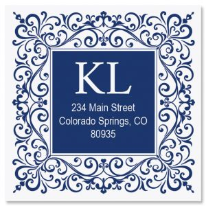 Simple Elegance Large Square Address Labels