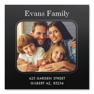 Modern Large Square Photo Address Label