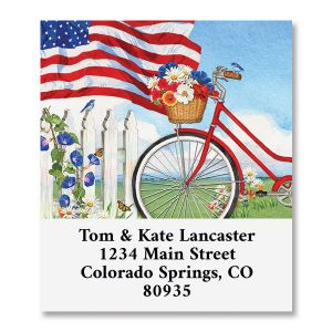 Patriotic Bicycle Select Address Labels