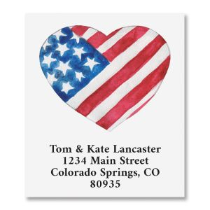 Patriotic Heart Select Address Labels