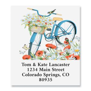 Floral Bike Select Address Labels