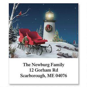 Christmas Sleigh Holiday Select Address Labels
