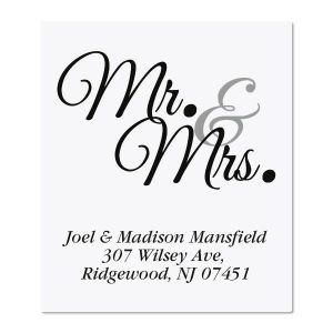 Mr & Mrs Select Address Labels