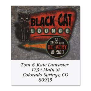 Black Cat Lounge Select Address Labels