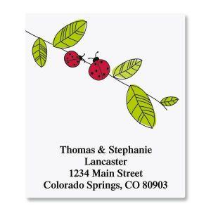 Ladybugs Select Address Labels