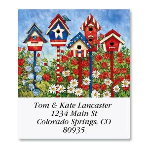 Patriotic Birdhouses Select Address Labels