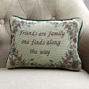 Friends Are Family Word Pillow