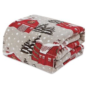 Snowy Barn Velvet Touch Throw