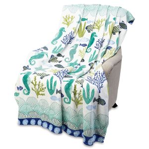 Ocean Coral Tropical Throw