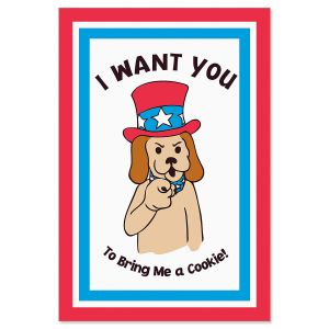 I Want You Patriotic Crunchkin Card for Pet