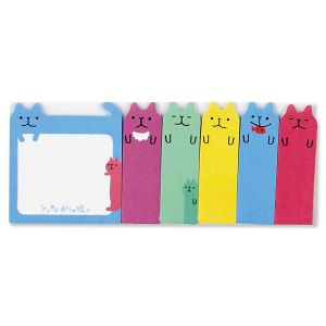 Colorful Cats Note Pals Sticky Tabs