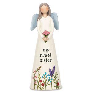 My Sweet Sister Blossom Bucket Angel Figurine