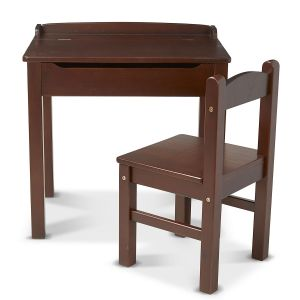 Lift-Top Wooden Desk and Personalized Chair by Melissa & Doug®