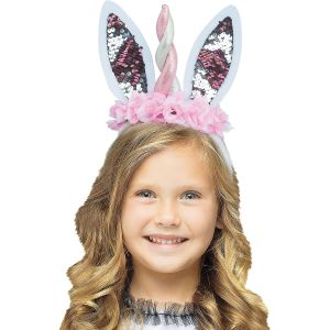 Unicorn Bunny Flip Sequin Headband