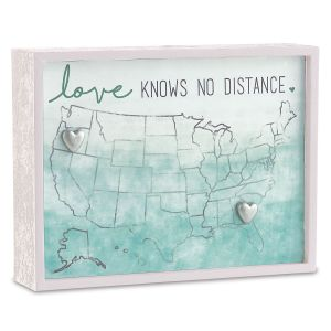 Love Knows No Distance Decorative Plaque