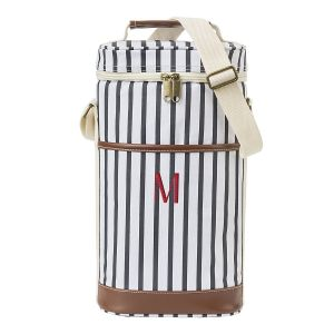 Striped Wine Personalized Cooler