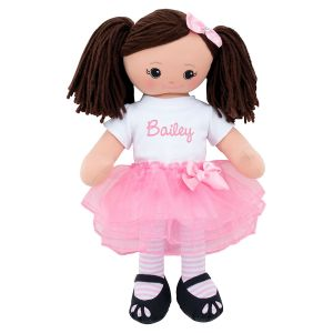 Personalized Hispanic Rag Doll with Tutu