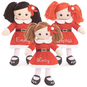 Rag Doll in Santa Dress