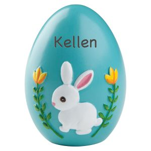 Personalized Blue Resin Easter Egg