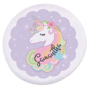 Unicorn Personalized Round Beach Towel