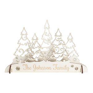 Personalized Wood Winter Wonderland Centerpiece