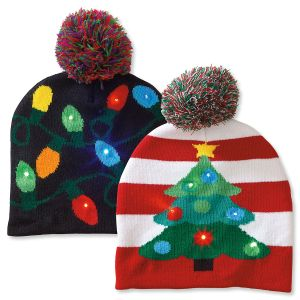 Lighted Christmas Stocking Caps