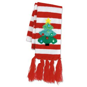 Lighted Christmas Tree Scarf