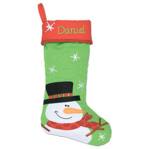 Personalized Snowman Christmas Stocking by Stephen Joseph®