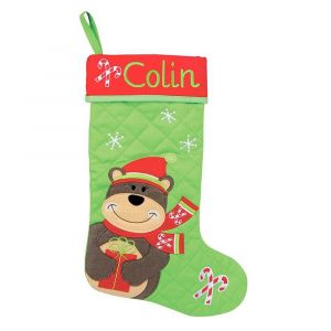 Personalized Bear Christmas Stocking by Stephen Joseph®