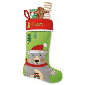 Personalized Bear Christmas Stocking by Stephen Joseph®