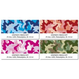Camouflage Deluxe Address Labels  (4 Designs)