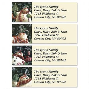 Joyous Snowman Classic Address Labels  (4 Designs)