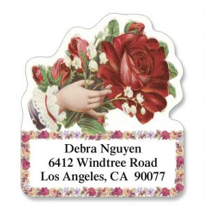 Victorian Rose Diecut Address Labels  (6 designs)