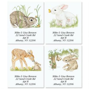 Bunny Spring by Linda K. Powell Select Address Labels  (4 Designs)