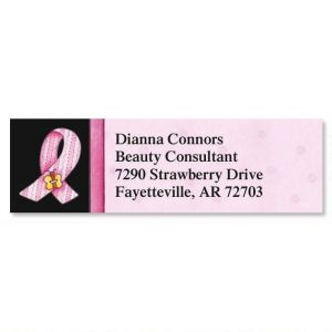 Pink Ribbon Classic Address Labels