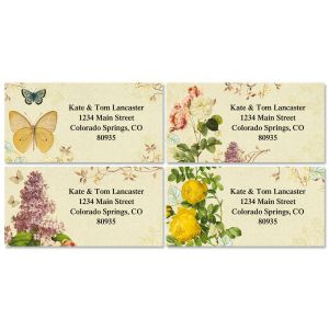 Natures Flora Border Address Labels  (4 designs)
