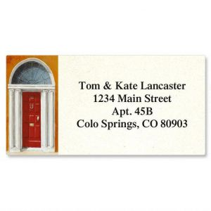 Enter Border Address Labels  (6 Designs)
