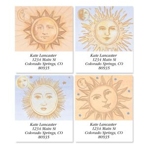 Sun and Moon Select Address Labels  (4 designs)