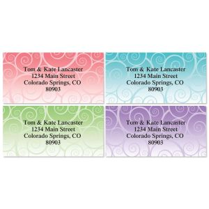 Swirly Girly Address Labels  (4 designs)