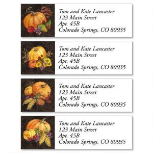 Bountiful Harvest Classic Address Labels  (4 Designs)