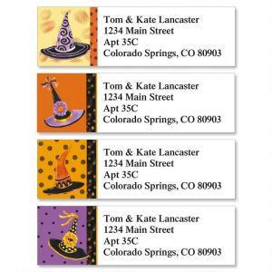 Halloween Hats Classic Address Labels  (4 Designs)