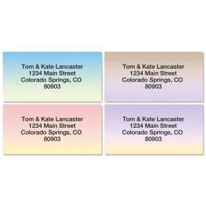 Ombre Address Labels  (4 designs)
