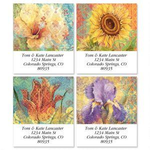 Elaborate Floral Select Address Labels  (4 designs)
