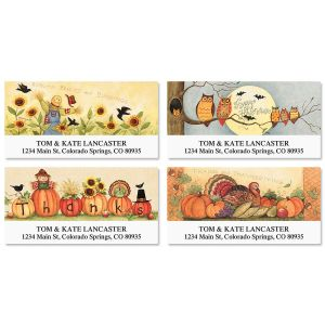 Autumn Mix Deluxe Address Labels  (4 Designs)