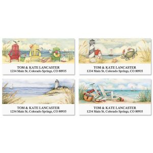 By the Beautiful Sea Deluxe Address Labels  (4 Designs)