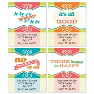 Think Happy Select Address Labels  (4 Designs)