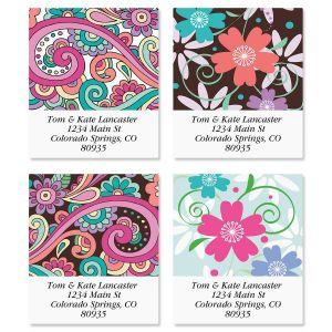 Floral Paisley Select Address Labels  (4 Designs)