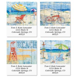 Beach Signs Select Address Labels  (4 Designs)