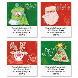 Swirly Twirly Select Address Labels  (4 Designs)